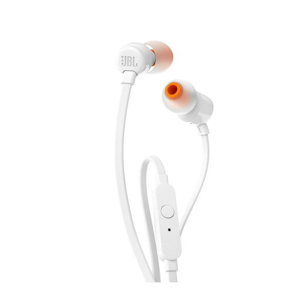 Jbl t110 blanco auriculares de botón con micrófono integrado