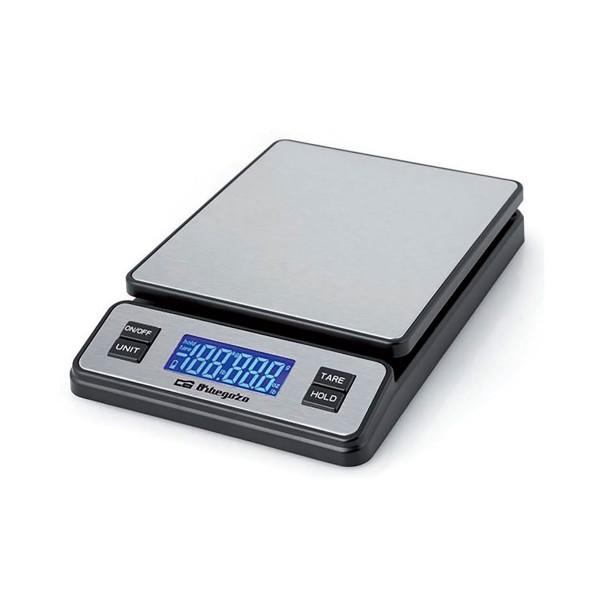 Orbegozo pc 3100 gris báscula de cocina capacidad máxima 40kg escalado 2g acero inoxidable pantalla lcd y apagado automático