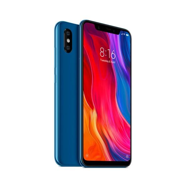 Xiaomi mi 8 azul móvil 4g dual sim 6.21'' samoled fhd+/8core/64gb/6gb ram/12mp+12mp/20mp