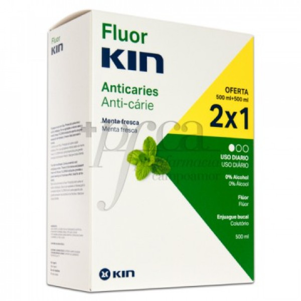 FLUORKIN ANTICARIES ENJUAGUE BUCAL 2X500ML PROMO