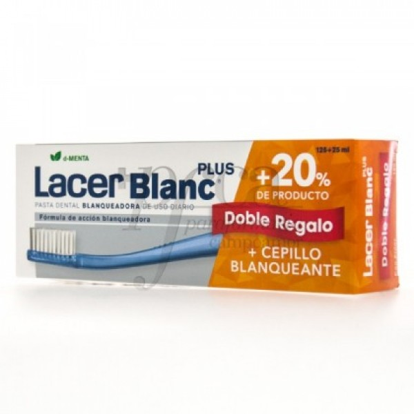 LACERBLANC PLUS D-MENTA 125+25ML CEPILLO PROMO