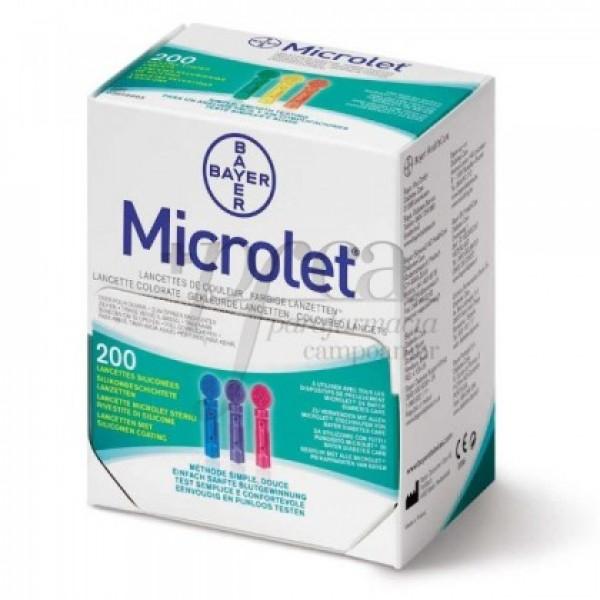 MICROLET LANCETAS DE COLOR 200U