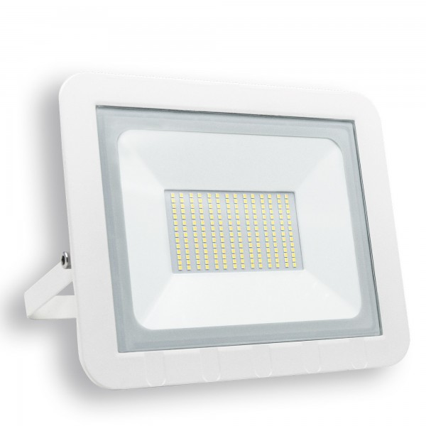 Proyector led plano blanco  100w.fria
