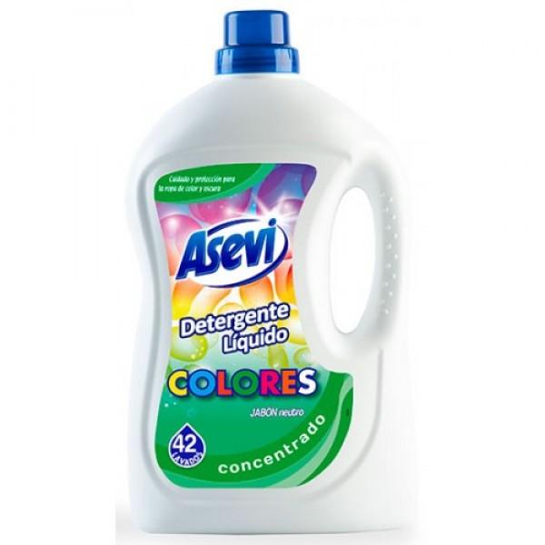 Asevi Detergente liquido concentrado colores 42 lavados