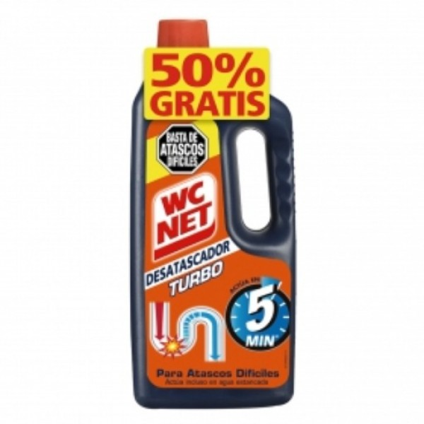 Wc net desatascador turbo 500ml + 500ml