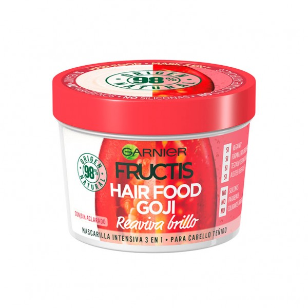 Fructis mascarilla intensiva hair food goji reaviva el brillo para cabello teã±ido 390ml.