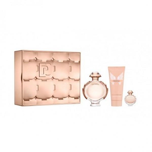 Set  olympea  edp 80 ml + edp miniature 6ml + body lotion 100ml