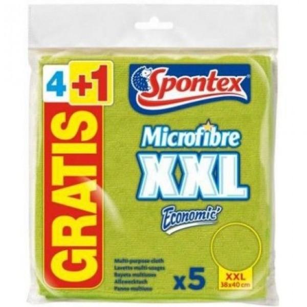 Spontex  bayeta  microfibra xxl econ   4+1 gratis