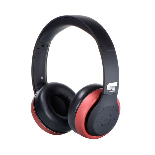 Ot by fonestar harmony rojo auriculares inalámbricos bluetooth con micrófono integrado y conexión aux