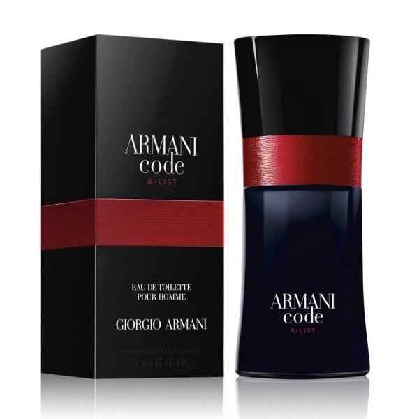 Giorgio armani armani code a-list eau de toilette pour homme 50ml vaporizador