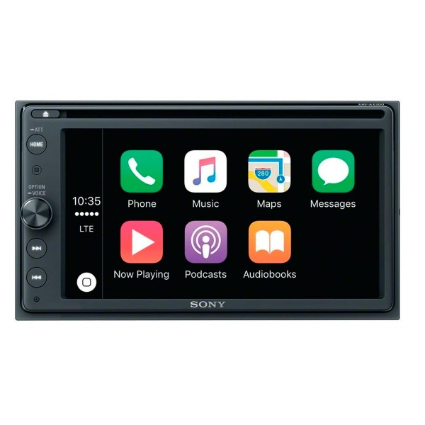 Sony xav-ax205db receptor de dvd radio dab con pantalla de 6.4'' para el coche con bluetooth apple carplay y android auto