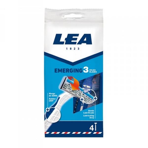 Lea emerging 3 hojas cuchillas desechables 4u