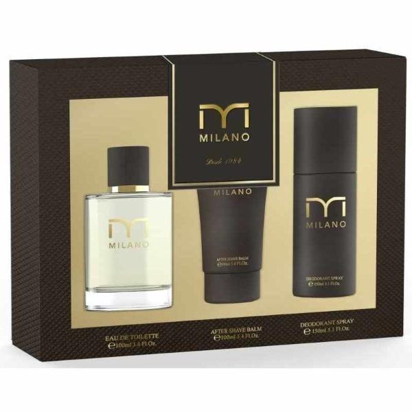 MILANO Set  EDT 100 V + After Shave 100 ml + Desodorante Spray 150 ml