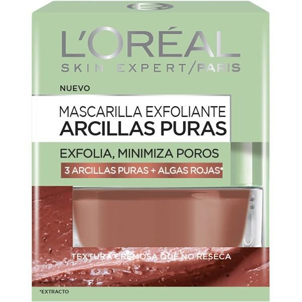 L´OREAL SKIN EXPERT Mascarilla Exfoliante  Arcillas Puras  50ml