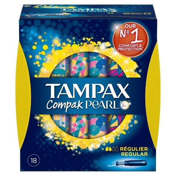 Tampax compak pearl regular  18 tampones