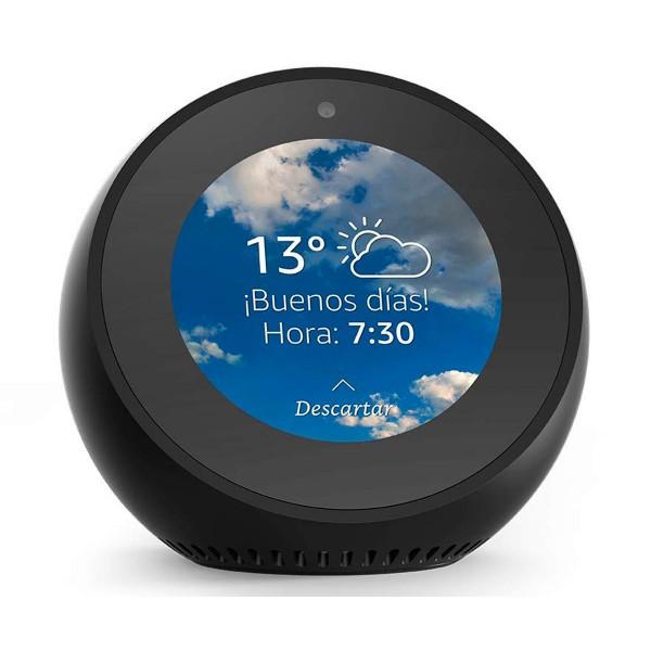 Amazon echo spot negro reloj despertador inteligente con alexa bluetooth wifi