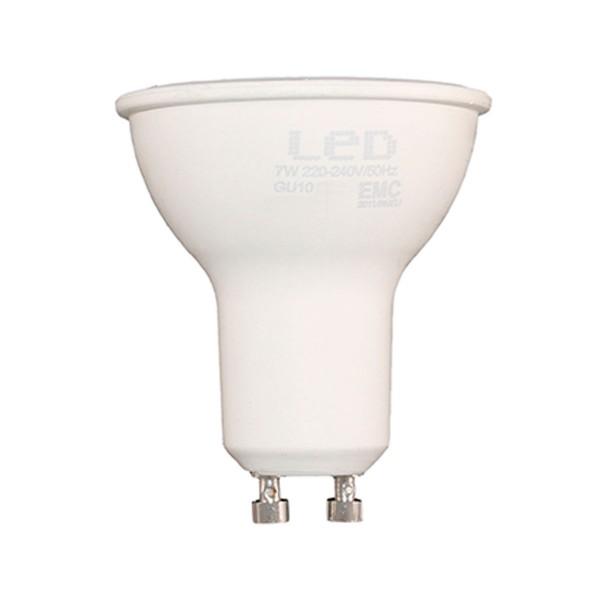 Sunmatic foco bombilla led casquillo gu10 7w 580 lumenes luz fria 6500k
