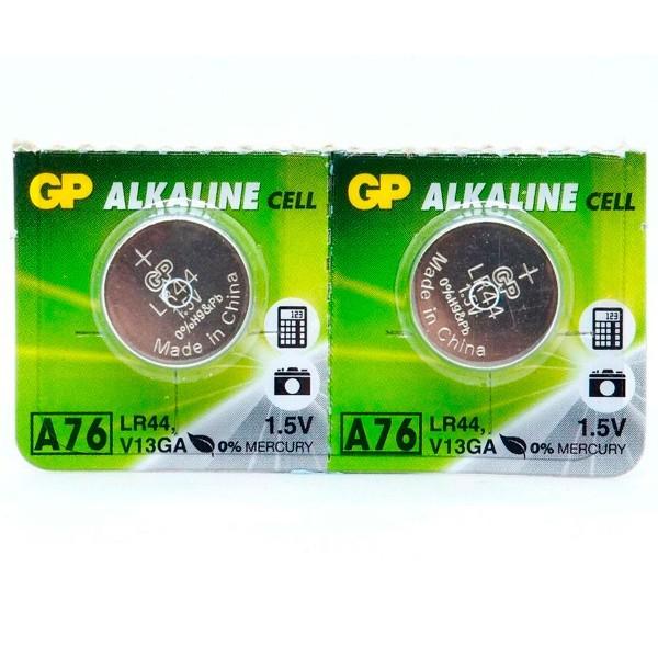 Gp pila alcalina lr44 a76 1.5v blister de 2 unidades