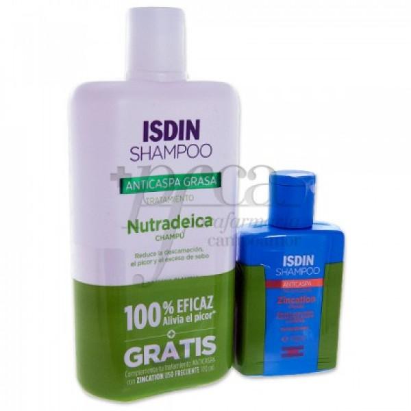 ISDIN NUTRADEICA CHAMPU 400ML + ZICATION PROMO