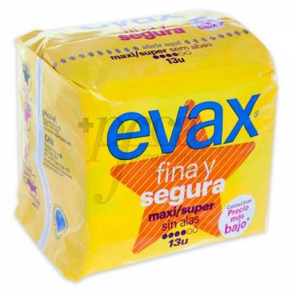 EVAX FINA Y SEGURA MAXI SUPER SIN ALAS 13U