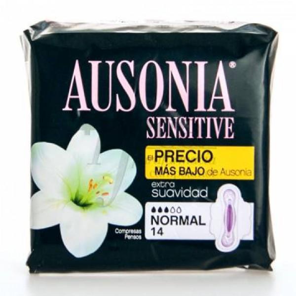 Ausonia Sensitive Alas Normal 14 uds