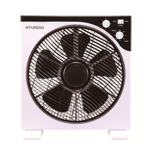 Hyundai hyvbf30lux blanco y negro ventilador de suelo box fan 30cm