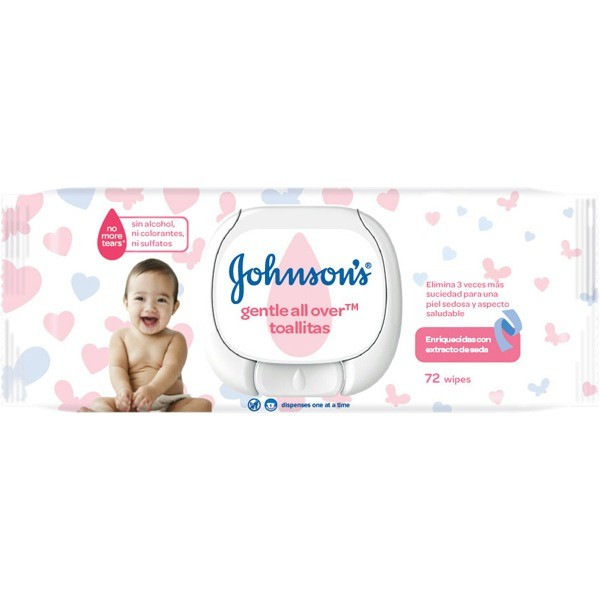 JOHNSONS Toallitas Gentle all over  72 ud.