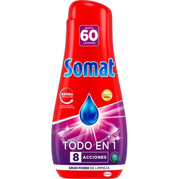 Somat gel  lavavajillas Todo en 1 ,  60 lavados 1.080 ml