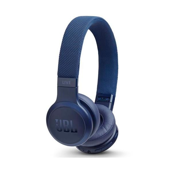 Jbl live 400 bt azul auriculares on-ear inalámbricos bluetooth manos libres asistente de voz