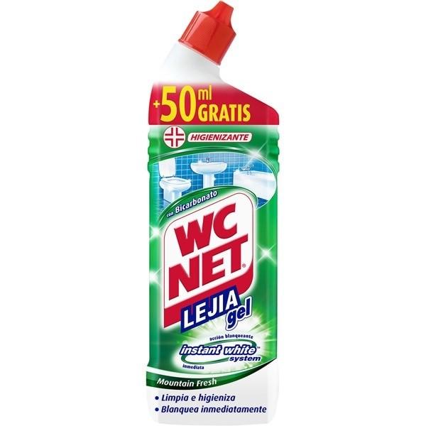WC NET lejía gel Higienizante750 ml + 50 ml GRATIS