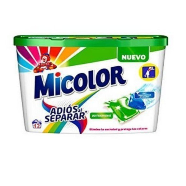 Micolor detergente Adiós al Separar 12 cápsulas