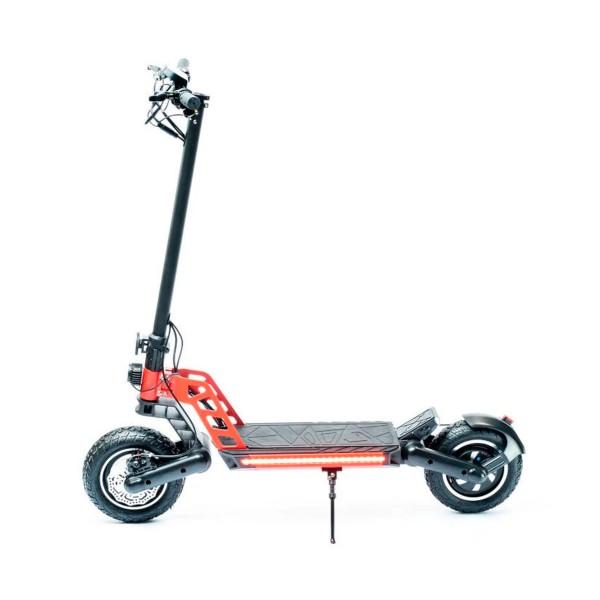 Zeeclo vulkano x110 13a negro/rojo patinete eléctrico 40km/h 40km de autonomía con diseño plegable