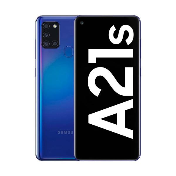 Samsung galaxy a21s azul móvil 4g dual sim 6.5'' lcd hd+ octacore 32gb 3gb ram quadcam 48mp selfies 13mp
